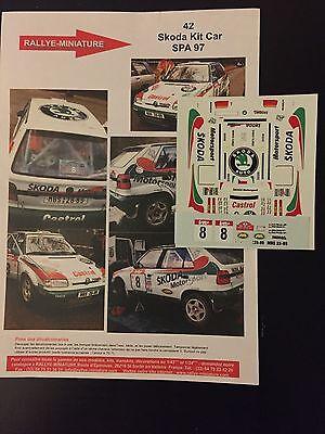 Ben Informato Decals 1/43 Skoda Felicia Kit Car Stolfa Rallye Boucles De Spa 1997 Rally Wrc