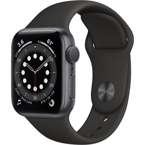 Apple Watch Series 6 GPS 40mm Space Gray Aluminum Black Sport Band MG133LL/A