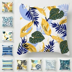 Leaf Case Home Bed Decoration Covers Garden Outdoor Soft Pillow Cushion Floral