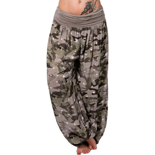Plus Size Women Boho Harem Pants Yoga Thai Hippie Elephant Wide Genie Trousers