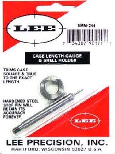 Lee 90120 6mm Remington  244 Remington Case Length Gage and Shellholder
