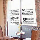 Vinyl Wall Decal Quote In this House We Are Family Text Stairs Decor Sticker D`