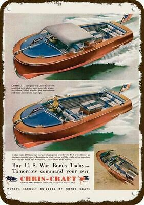 Metal Sign Vintage Look Reproduction 1940 Chris-Craft Yachts