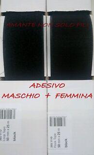 50 cm Hoop+Look Nastro strappo da cucire da 10cm completo Maschio+Femmina velcro
