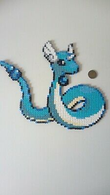 Draco Pokemon Sprite Original Perler Hama Pixel Art Ebay