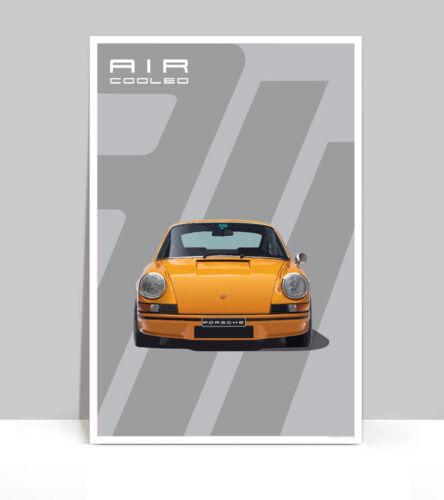 """Signal Orange 911 Poster Aluminum 36/"""" x 24/"""""""