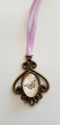 Amuleto, Medaglione, Farfalla, Circa 2,5 Cm-pezzo Unico, Interamente A Mano, Per Orso Ecc.-mostra Il Titolo Originale