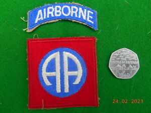 GENUINE WW2 US 82nd ALL AMERICAN AIRBORNE PARA INFANTRY.SCARCE GREEN BACK NO3