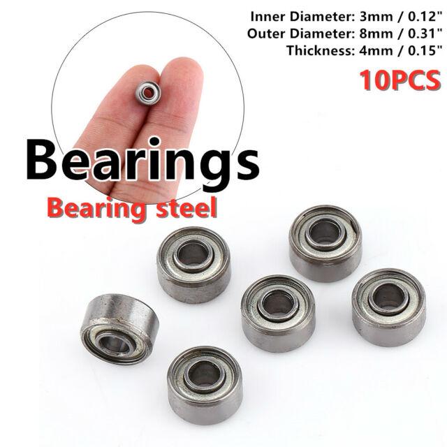 10pcs 693ZZ Miniature Ball Bearings 3*8*4mm Small Double Shielded Bearing BSCA