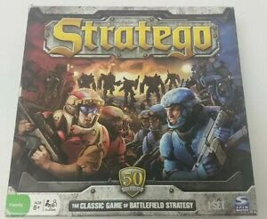 Stratego Board Game Classic Battlefield Strategy 50th Year Edition Anniversary