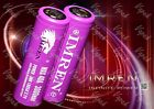 2 Purple IMREN IMR 18650 High Drain Battery 3.7v 3000mAh / 40Amp Li-MN Flat Top