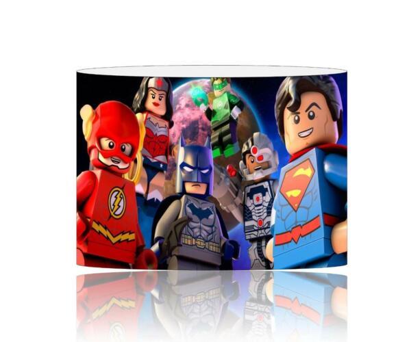 (039) Lego Supereroi Paralume/lampadario Da Soffitto Bambini Gratis P + P