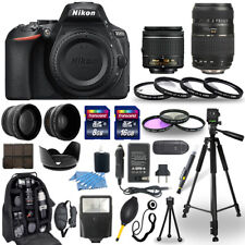 Nikon D5600 Digital Camera + 18-55mm VR + 70-300mm + 30 Piece Accessory Bundle