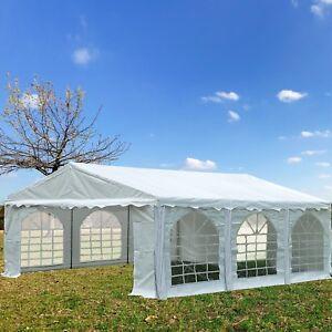 Image is loading PVC-Party-Tent-20-039-x-16-039- & PVC Party Tent 20u0027 x 16u0027 White - Heavy Duty Party Wedding Carport ...