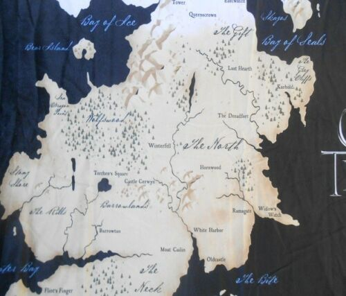 New Game of Thrones Westeros Map Plush Fleece Gift Throw Blanket HBO Essos NIP