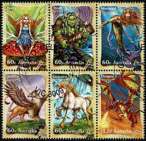 2011-AUSTRALIA-Mythical-Creatures-BLK-6-FU-CTO