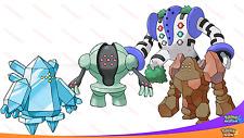 SHINY 6IV TITAN Pack Regirock Regice Registeel Regigigas Pokemon SUN MOON Legend