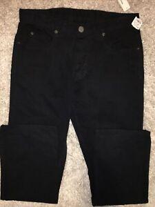 JAMES-PERSE-32-X-30-Black-MEN-039-S-5-POCKET-CANVAS-Cotton-USA-PANTS