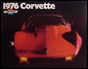 1976-Chevy-Corvette-Stingray-ORIGINAL-Dealer-Brochure-GM-NOS-Xlnt-76