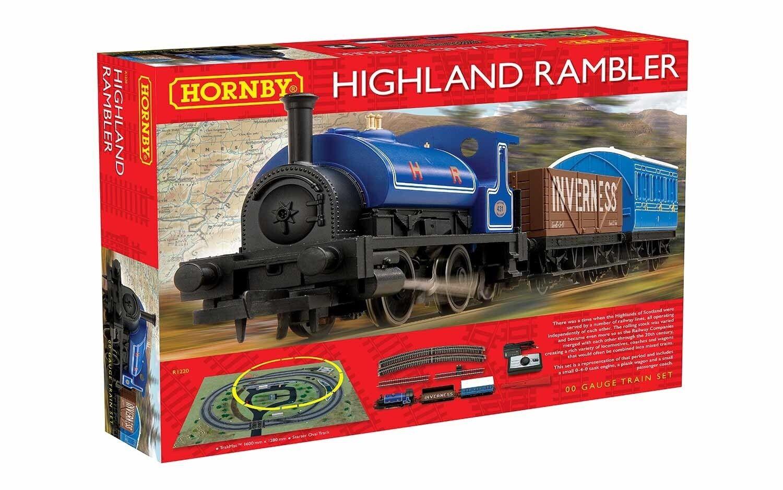 Hornby R1220 The Highland Rambler Train Set 0-4-0 Tank Steam Locomotive OO Gauge