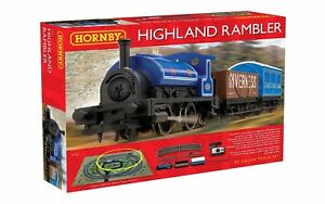 Hornby-R1220-The-Highland-Rambler-Train-Set-0-4-0-Tank-Steam-Locomotive-OO-Gauge