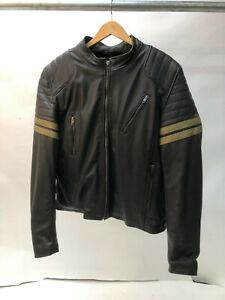 Spada-Wyatt-Leather-Motorcycle-Motorbike-Jacket-Black-size-40-MEDIUM