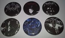 6 Emperor button badges In the Nightside Eclipse Black Mayhem Immortal Norway