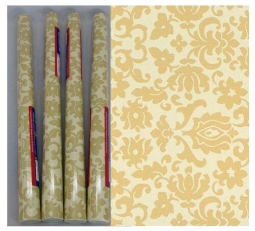 Möbelfolie je Rolle 45x200 Dekorfolie 4er Set Klebefolie Barock Ornament beige