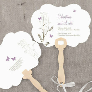 Image Is Loading 24 Personalized Erfly Hand Fans Wedding Favors