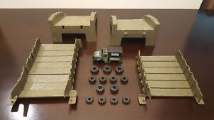 Vintage-Schaper-STOMPERS-Rough-Riders-Playset-and-truck-PARTS-LOT