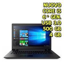 """SOTTOCOSTO PC PORTATILE NOTEBOOK NUOVO LENOVO 15,6""""  i5 6200 4GB RAM 500GB WIN10"""