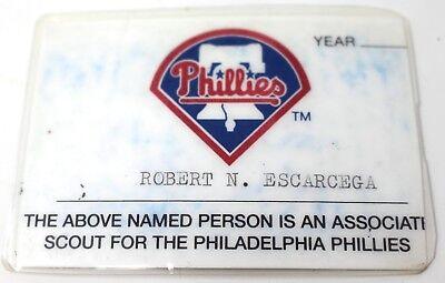 Aufrichtig Mlb Philadelphia Phillies Associate Scout Logo Baseball Ausweis Robert Escarcega Baseball & Softball