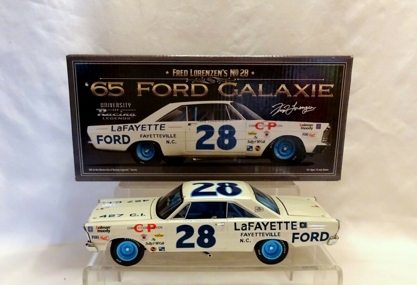 1965 Frouge LORENZEN  28 Lafayette FORD GALAXIE DIECAST 1 24 NASCAR (87)
