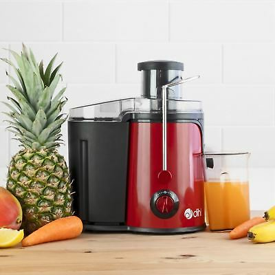 Dihl 600W Red Whole Fruit Vegetable Citrus Extractor Centrifugal Power Juicer