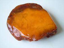 Dark Old Butterscotch Natur Bernstein Roh+Poliert Amber 39,19g/6,4 x 6,0 x 1,5cm