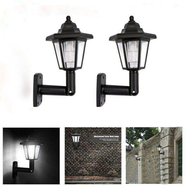 Outdoor Solar Ed Wall Mounted Led Lantern Lights Garden Landscape Yard Lamp