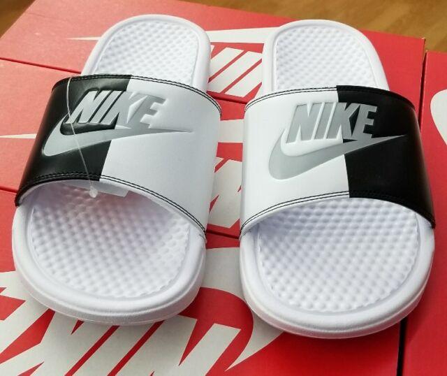 53d8019df7914 Nike Benassi JDI 343880 104 White pure Platinum-black Men US Sz 12 ...