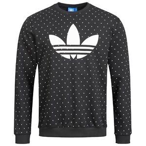Details zu Adidas Sweatshirt Trefoil originals Sweat Herren Hoodie Pullover SCHWARZ NEU