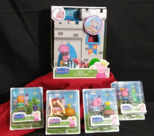Peppa Pig Little Castle Fort and 4 accessory figure packs! All new in package!