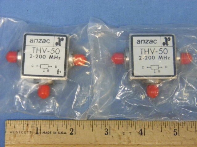 Set Of 2 NEW ANZAC THV 50 200 MHz SMA Power