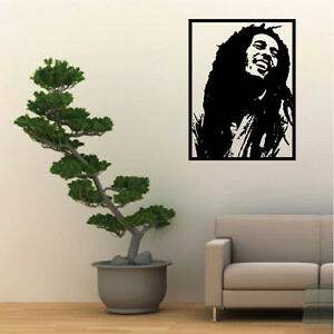 Adesivi Murali Bob Marley.Wall Stickers Adesivi Murali Bob Marley Music Reggie Musica Quadro
