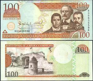 DOMINICAN-REPUBLIC-100-PESOS-ORO-2006-P-177-UNC