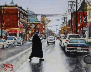St-Viateur-Montreal-Mile-End-8x10-egg-tempera-Darlene-Young-Canadian-Artist