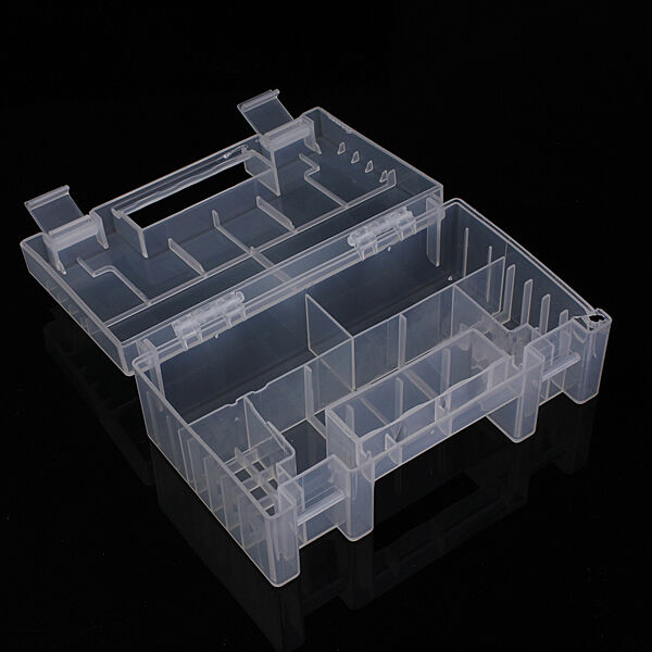Translucent Hard Plastic Case Holder Storage Home Box for AA AAA C battery
