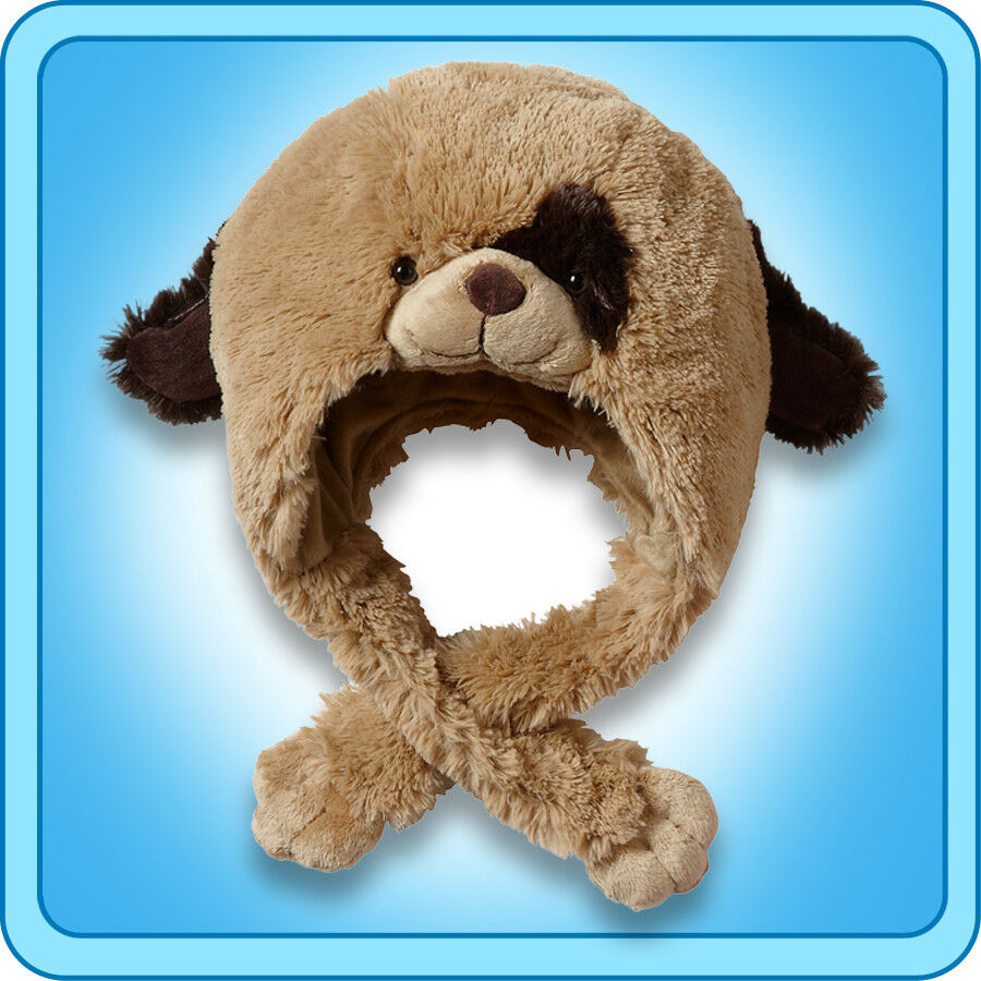Authentic Pillow Pets Puppy Dog Hat Plush Toy Gift For Sale Online