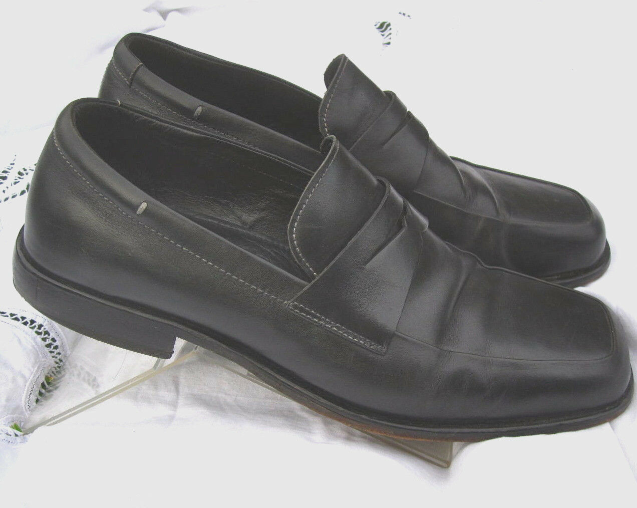 be24cf1d375 Johnston and Murphy Black Leather Penny Loafers Mens 11 11 11 M 381cd2