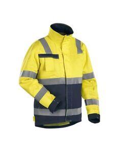Blaklaeder-4087-Multinorm-Jacke-gelb-marineblau-Restposten-Groesse-3XL
