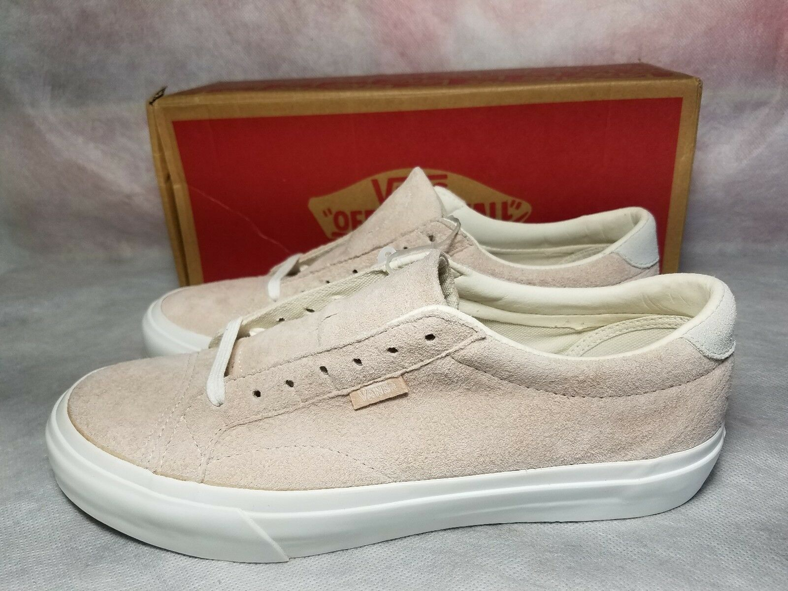 New Vans Court DX Pig Suede Silver Peony Pink 8 White Skate Shoe Men 8 Pink , Women 9.5 69ba9d