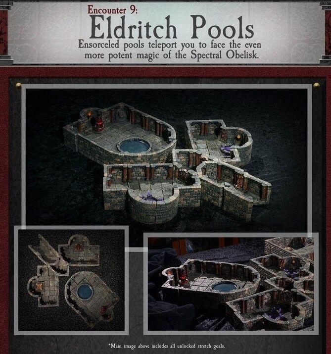 Dwarven Forge Eldritch piscinas mazmorra de Doom Azulejos Kickstarter terreno D&D RPG