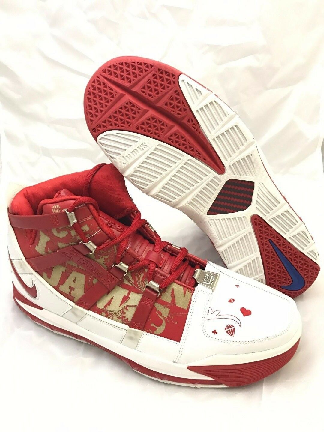 NEW DS Nike Zoom LeBron III Price reduction All Star Game Red 2018 Comfortable The most popular shoes for men and women